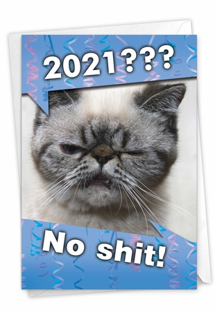 Funny New Year Card From NobleWorksInc.com - No Sh*t - 2020