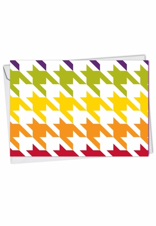 Artful Blank Card From NobleWorksInc.com - Nothing But A Houndstooth