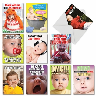 Funny Birthday Assorted Cards From NobleWorksInc.com - Oh Babies!