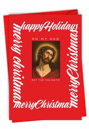 Funny Merry Christmas Card From NobleWorksInc.com - OMG The Holidays