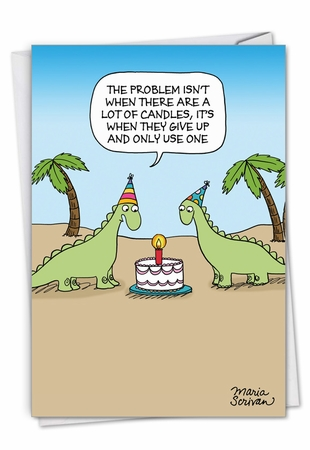 Hilarious Birthday Card From NobleWorksInc.com - One Candle