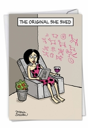 Original She Shed Card