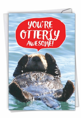 Hilarious Anniversary Card From NobleWorksInc.com - Otterly Awesome