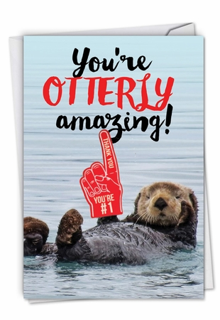 Funny Thank You Card From NobleWorksInc.com - Otterly Awesome