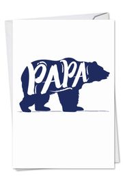Papa Bear Funny Father's Day Card by NobleWorks