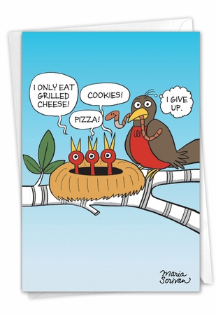 Humorous Mother's Day Card From NobleWorksInc.com - Picky Eaters