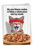 Humorous Birthday Card From NobleWorksInc.com - Pizza Fitness