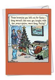 Prescription Brownies Funny Christmas Card by NobleWorks and Dan Piraro