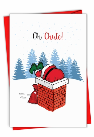 Creative Merry Christmas Card From NobleWorksInc.com - Punny Holidays - Chute