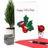 Creative Merry Christmas Card From NobleWorksInc.com - Punny Holidays - Holly-Days
