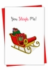 Creative Merry Christmas Card From NobleWorksInc.com - Punny Holidays - Sleigh Me