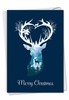 Stylish Merry Christmas Card From NobleWorksInc.com - Reindeer Silhouette - pond