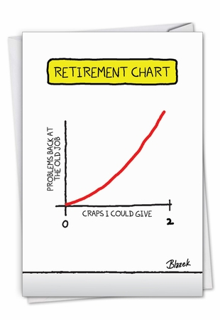 Hilarious Retirement Card From NobleWorksInc.com - Retirement Chart