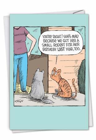 Hysterical Birthday Card From NobleWorksInc.com - Rodent Present