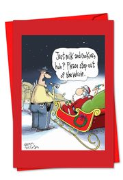 Santa DUI Funny Christmas Card by NobleWorks and Glenn McCoy