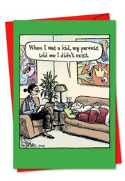 Santa Therapy Funny Christmas Card by NobleWorks and Bizarro by Dan Piraro