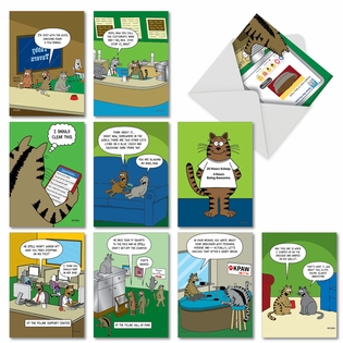 Funny Birthday Assorted Cards From NobleWorksInc.com - Scott Metzger's Cat Toons