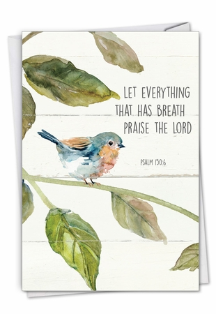 Creative Congratulations Card From NobleWorksInc.com - Scripture Birds - Psalm 150:6