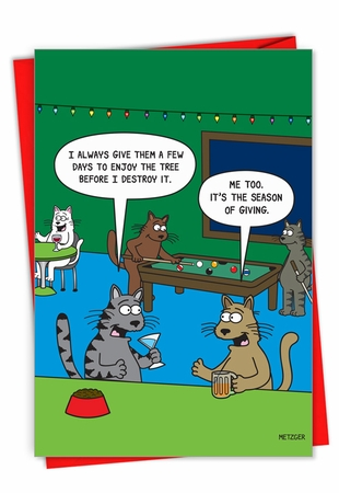Hysterical Merry Christmas Card From NobleWorksInc.com - Season of Giving