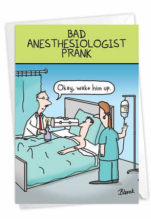 Humorous Get Well Card From NobleWorksInc.com - Sick Prank