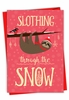 Hysterical Merry Christmas Card From NobleWorksInc.com - Slothing Through The Snow
