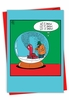 Funny Merry Christmas Card From NobleWorksInc.com - Snowglobe Blower
