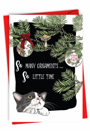 Funny Merry Christmas Card From NobleWorksInc.com - So Many Ornaments