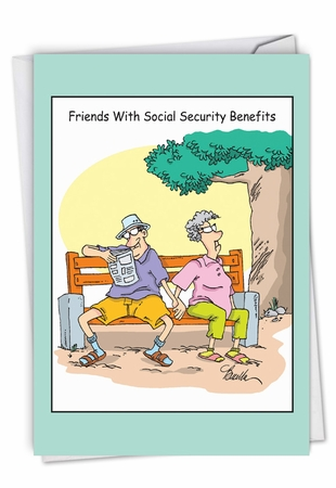 Funny Birthday Card From NobleWorksInc.com - Social Security Benefits