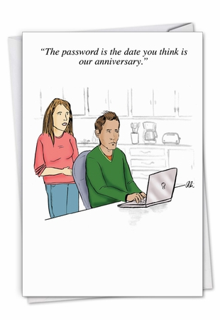 Funny Anniversary Card From NobleWorksInc.com - Special Password