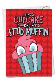 Stud Muffin Funny Valentine's Day Card by NobleWorks