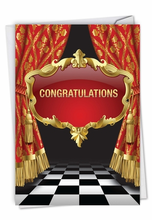 Stylish Congratulations Card From NobleWorksInc.com - Take A Bow