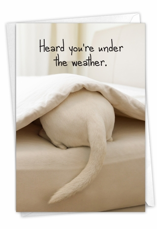 Funny Get Well Card From NobleWorksInc.com - Tattle Tails - Bed