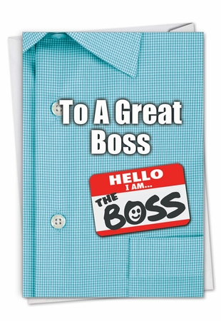 Creative Boss's Day Card From NobleWorksInc.com - Thank You to a Great Boss