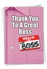 Stylish Boss Thank You Card From NobleWorksInc.com - Thank You to a Great Boss