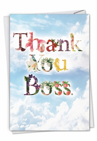 Stylish Boss Thank You Card From NobleWorksInc.com - Thanks A Bunch