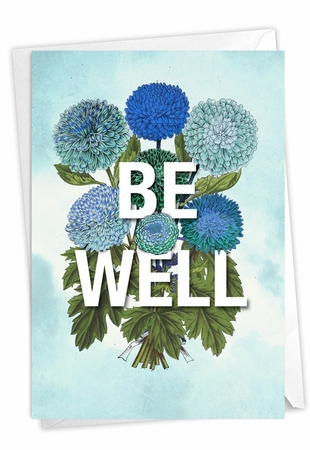 Stylish Blank Friendship Card From NobleWorksInc.com - Timely Thoughts - Be Well