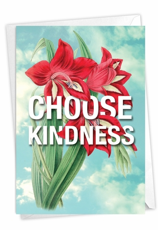 Creative Blank Friendship Card From NobleWorksInc.com - Timely Thoughts - Choose Kindness
