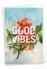 Stylish Blank Friendship Card From NobleWorksInc.com - Timely Thoughts - Good Vibes