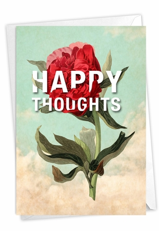 Creative Blank Friendship Card From NobleWorksInc.com - Timely Thoughts - Happy Thoughts