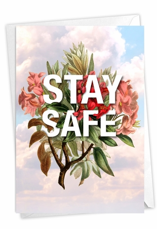 Creative Blank Friendship Card From NobleWorksInc.com - Timely Thoughts - Stay Safe