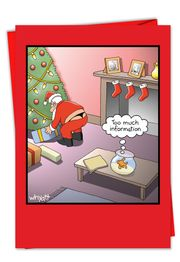 Too Much Info Fish Christmas Funny Card