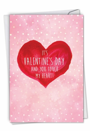 Humorous Valentine's Day Card From NobleWorksInc.com - Touch My Heart