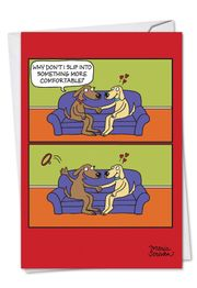 Uncollared Funny Valentine's Day Card by NobleWorks and Maria Scrivan