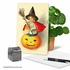Beautiful Halloween Card From NobleWorksInc.com - Vintage Pumpkins-Witch