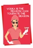 Humorous Merry Christmas Card From NobleWorksInc.com - Vodka Is The Reason