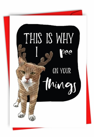 Funny Merry Christmas Card From NobleWorksInc.com - Why I Pee