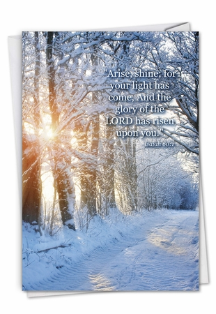 Stylish Congratulations Card From NobleWorksInc.com - Winter Sunrise - Isaiah 60:1