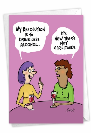 Funny New Year Card From NobleWorksInc.com - Wrong Holiday