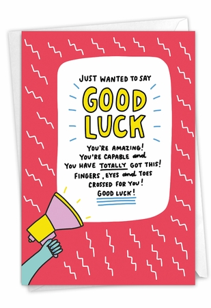 Humorous Good Luck Card From NobleWorksInc.com - You Got This
