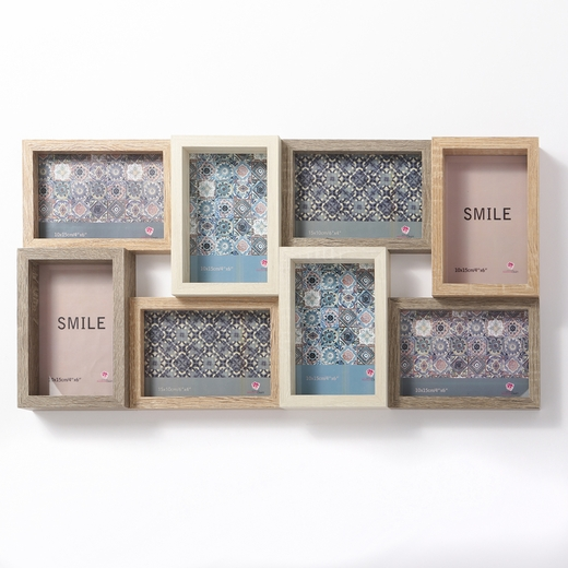 22 Inch Wood Puzzle Collage Frame 8 Openings